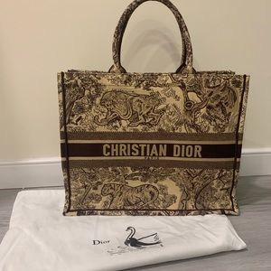 Dior Embroidered Tote Bag **read